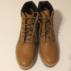 Faux Timbaland boots from Target.  Brand new!